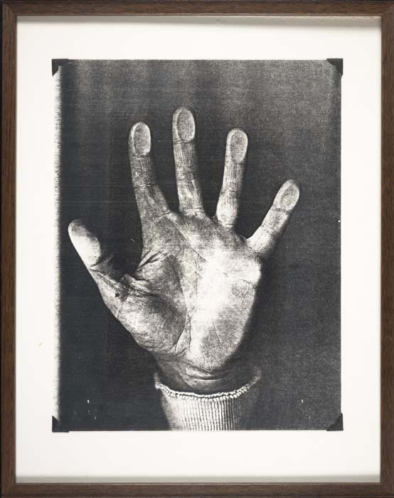 Bruce Conner, Photographic Copy of the Right Hand of Bruce Conner, from the series PRINTS