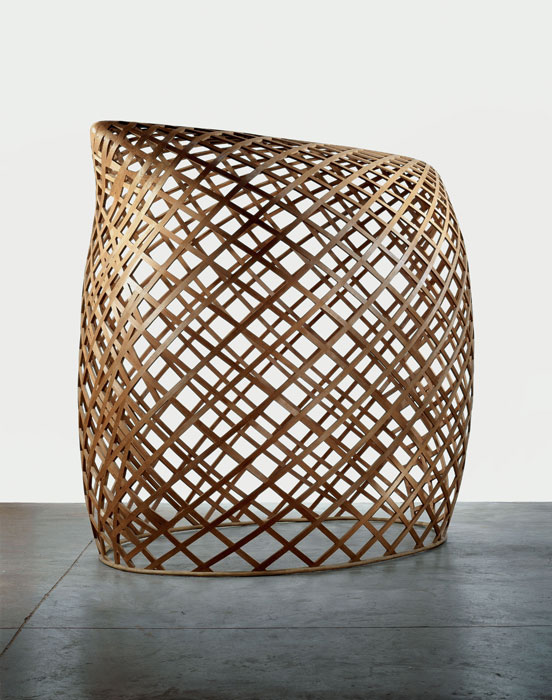 "Martin Puryear, Brunhilde, 1998-2000; Cedar and rattan, 8' x 9' 4 ¼"" x 6' 2"" (243 x 285.1 x 188 cm); Collection the artist; © 2007 Martin Puryear; Photo Richard P. Goodbody"