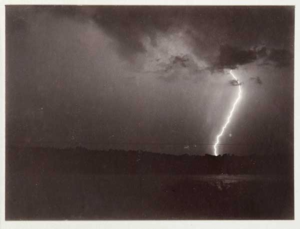 A. H. Binden, Lightning, 1888; Gelatin silver print, 6 x 8 in. (15.2 x 20.3 cm), Stephen White Collection II, Los Angeles