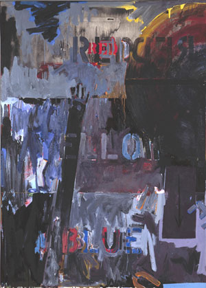 Jasper Johns, Lands End, 1963. Oil on canvas with stick