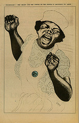 Emory Douglas, Hallelujah! The Might and the Power of the People is Beginning to Show, from The Black Panther Newsletter, May 29, 1971