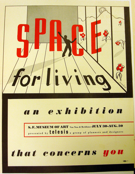 Space for Living: An Exhibition of Planning and Architecture, 1940; exhibition poster; designed by Walter Landor