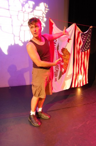 Tim Miller considers setting some flags on fire in Lay of the Land