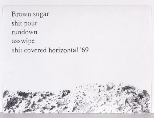 Sam Durant, _Brown Sugar Rundown_, 1999 (drawing). Photo courtesy Blum and Poe, Los Angeles.