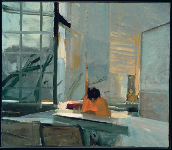 Elmer Bischoff, _Orange Sweater_, 1955. Oil on canvas.