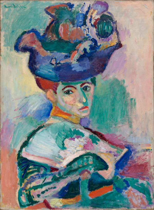 Henri Matisse, _Woman with a Hat_, 1905