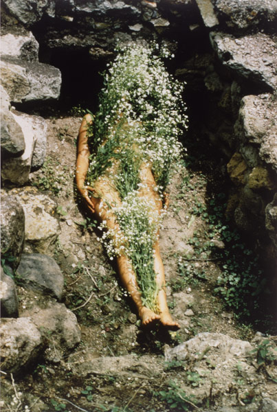 Ana Mendieta, _Imagen de Yagul, from the series Silueta Works in Mexico 1973-1977_, 1973