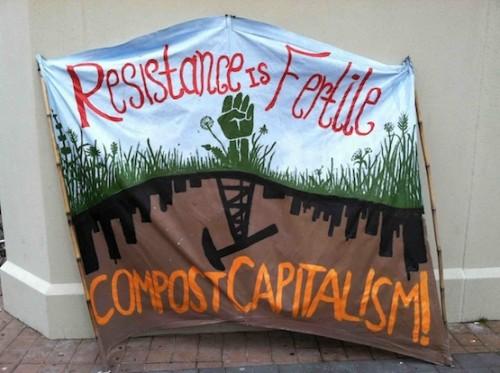 Banner, Occupy Oakland, December 12, 2011