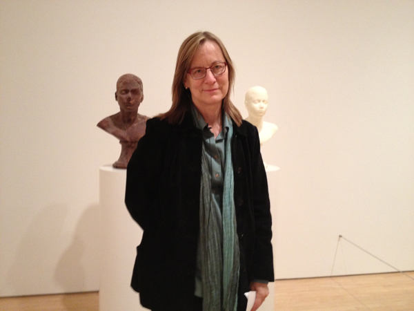 Maria Porges with Janine Antoni's _Lick and Lather_