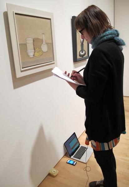 Rebecca Bollinger with Giorgio Morandi's _Natura Morta (Still Life)_