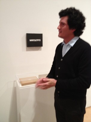 Jordan Kantor with On Kawara's _March 16,1993_