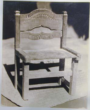 """Tina Modotti, _Untitled [""""Chair made by indians for their own use""""]_, n.d."""