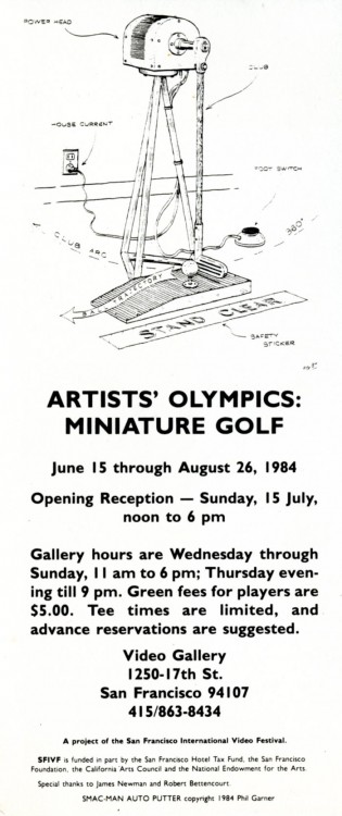 Receipt of Delivery: Artists' Olympics