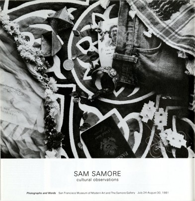 Sam Samore page from the Summer 1981 issue of Artforum