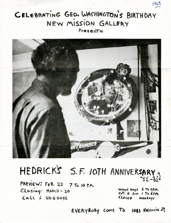 Receipt of Delivery: Wally Hedrick's S. F. 10th Anniversary