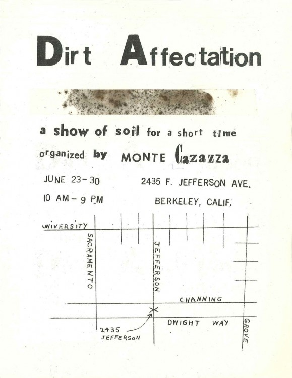 Receipt of Delivery: Monte Cazazza's Dirt Affectation