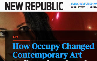 Did Occupy Really Change Contemporary Art?