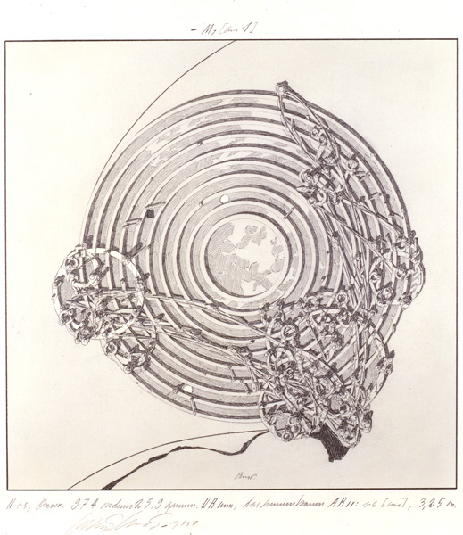 Lebbeus Woods, Concentric Field, from the series Centricity, 1987