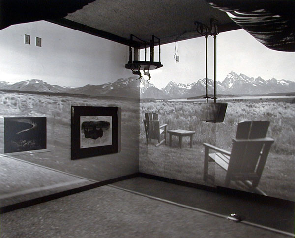 Abelardo Morell, Camera Obscura Image of the Grand Tetons in Resort Room, 1997