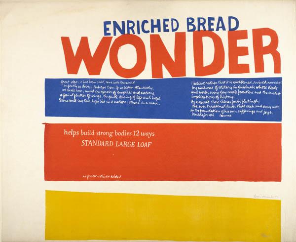 Corita Kent, enriched bread, 1965