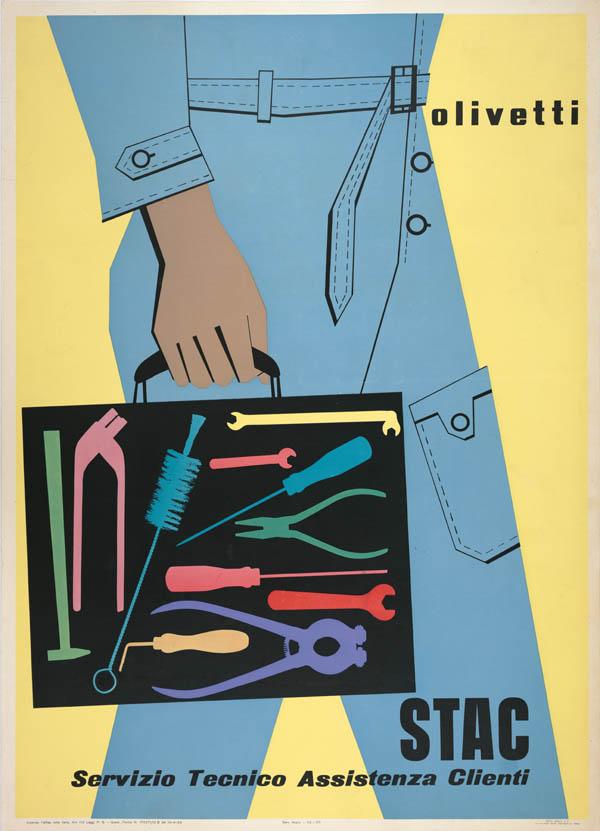 Ing. C. Olivetti & C., Egidio Bonfante, Poster, 1953