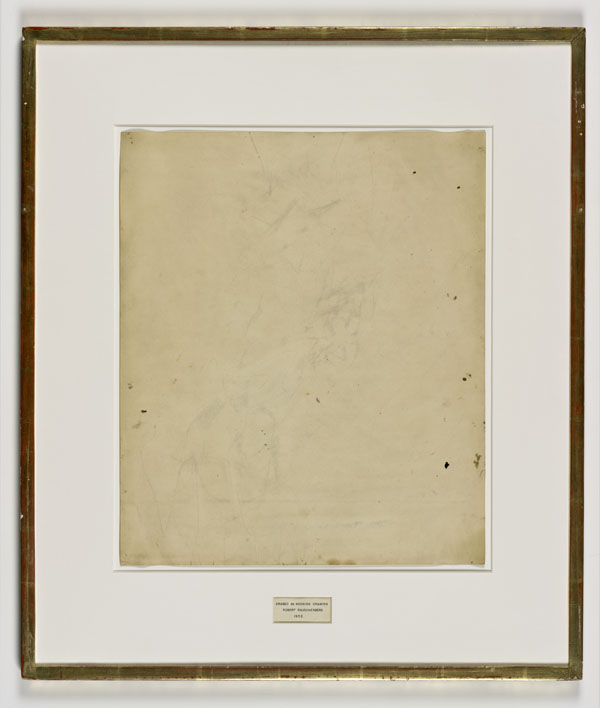 Robert Rauschenberg, Erased de Kooning Drawing, 1953