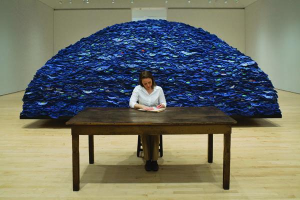 Ann Hamilton, indigo blue, 1991/2007