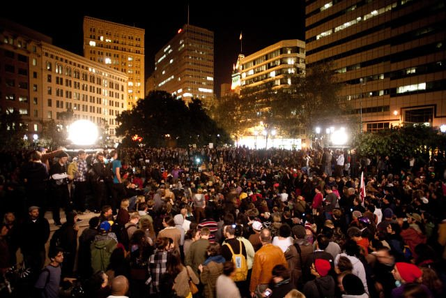 Occupy Oakland in the plaza