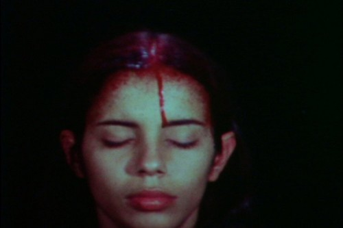 Ana Mendieta, Sweating Blood, 1973 Super-8 colour, silent film transferred to DVD Running time: 3 minutes The Estate of Ana Mendieta Collection