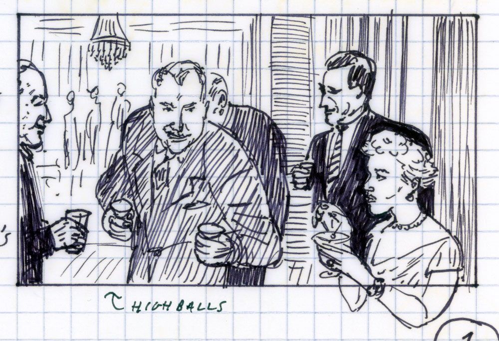 3.Paul Clipson, drawing for All That Heaven Allows (Douglas Sirk, 1955), reel 3, in REEL.