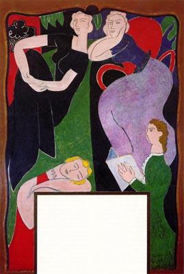 Matisse s couture closet and la conversation open space for Le violoniste a la fenetre henri matisse