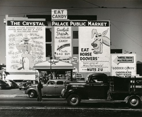 John Gutmann Pop Advertising, San Francisco 1939 photograph | gelatin silver print  Source: http://www.sfmoma.org/explore/collection/artwork/7571#ixzz3XUckRnyh San Francisco Museum of Modern Art