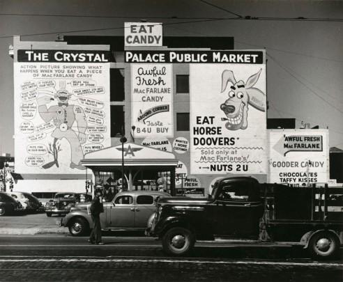 John Gutmann Pop Advertising, San Francisco 1939 photograph   gelatin silver print  Source: http://www.sfmoma.org/explore/collection/artwork/7571#ixzz3XUckRnyh San Francisco Museum of Modern Art