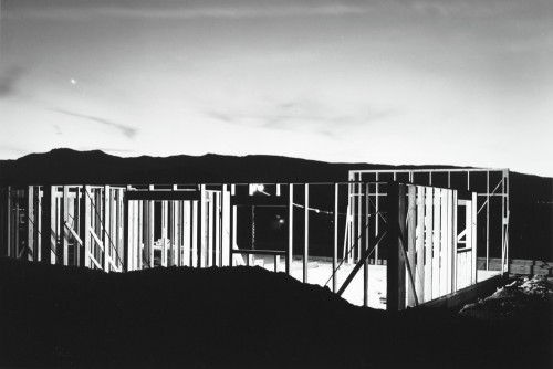 Lewis Baltz American (Newport Beach, California, 1945 - 2014, Paris, France) Night Construction, Reno, from the Nevada portfolio 1977 photograph | gelatin silver print  Source: http://www.sfmoma.org/explore/collection/artwork/10219#ixzz3hmALQbw4 San Francisco Museum of Modern Art