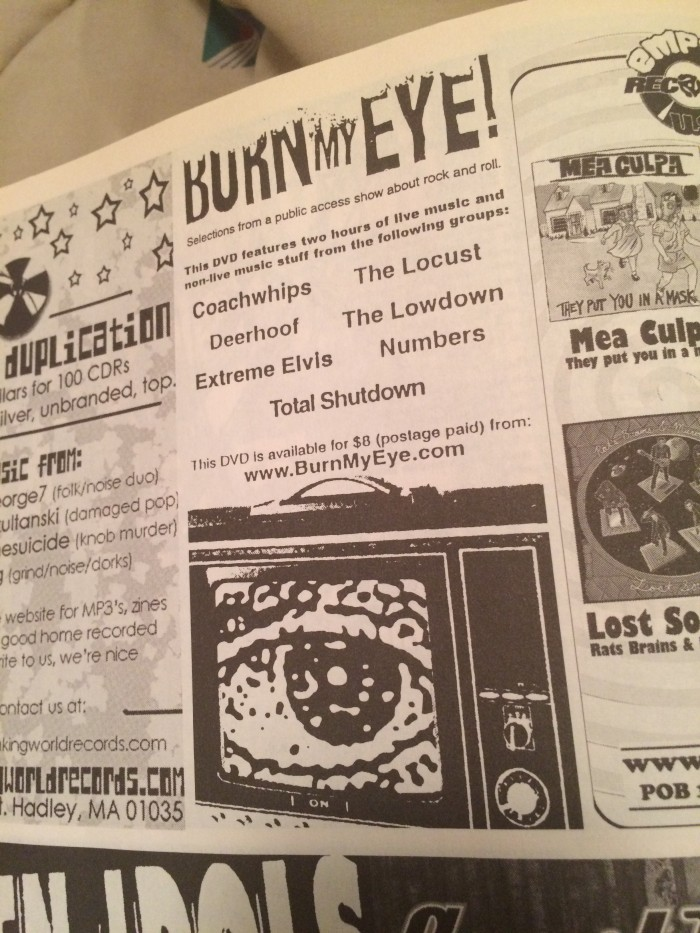 Ad from Punk Planet Sept/Oct 2003