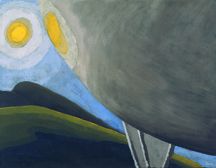 Arthur Dove, Silver Ball No. 2, 1930; oil and metallic paint on canvas, 23 1/4 in. x 30 in. (59.06 cm x 76.2 cm); Collection SFMOMA, Rosalie M. Stern Bequest Fund purchase; © Estate of Arthur Dove