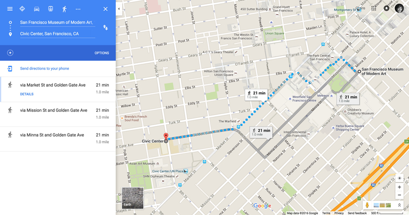 Itinerary 5 (for Stephen G. Rhodes): From SFMOMA to the Civic Center