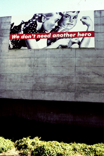 Barbara Kruger: MATRIX/Berkeley 100; August 15–October 21, 1986; University of California, Berkeley Art Museum and Pacific Film Archive. Photos: Ben Blackwell.